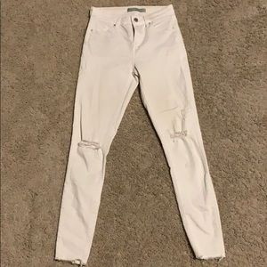 Topshop white jeans